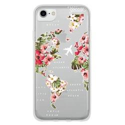 Cover World Map Floral