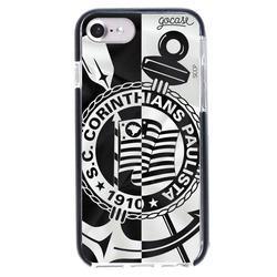 Capinha para celular Anti-Impacto PRO Corinthians - Black and White