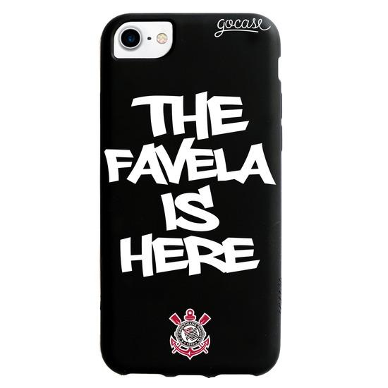 Capinha para celular Color Black - Corinthians - The Favela is Here