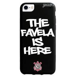 Capinha para celular Color Black - Corinthians - The Favela is Here