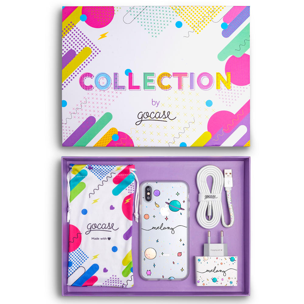 Kit Planets Handwritten (Case + wall charger + cable + collection box)