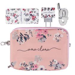 Kit Bem Floral (Cabo iPhone Lightning + Carregador Duplo + Carregador Portátil 5000mAh + Porta Acessórios)