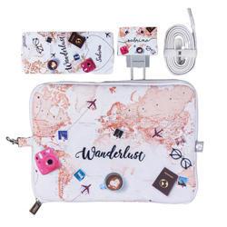 Kit World Trip (Cabo iPhone Lightning + Carregador Duplo + Carregador Portátil 5000mAh + Porta Acessórios)