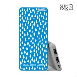 Power Bank Slim Portable Charger (5000mAh) - Rainy Drops