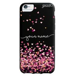 Black Case  Hearts Handwritten Phone Case