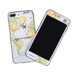 Kit World Map Blank Handwritten (Skin Custom White + Case)
