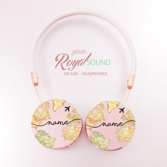 Royal Sound Headphones - World Map Blank Handwritten