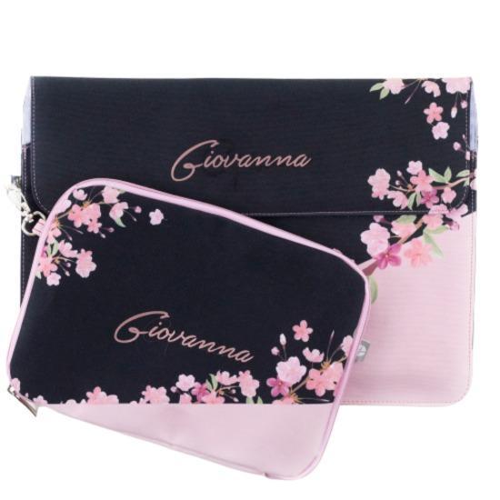 Kit Capa para Notebook 16'' + Porta Acessórios - Classical Rosê Black