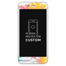 White Screen Protector Tempered Glass - Palm Trees - Summer Collection