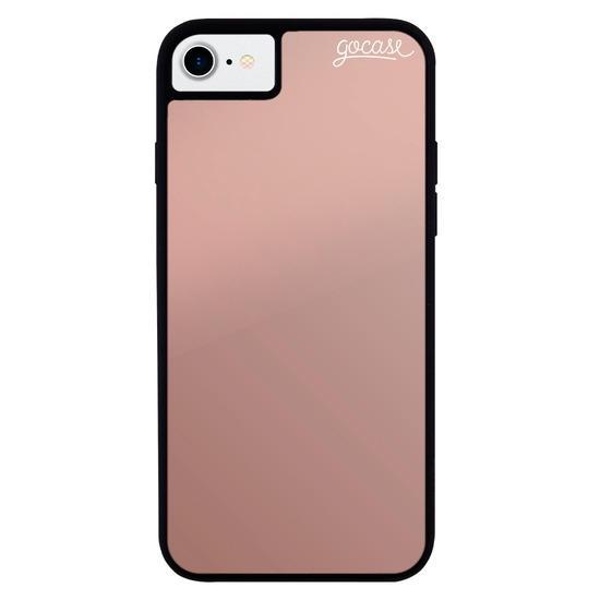 Capinha para celular Metallic Cobre - Clear Logo White