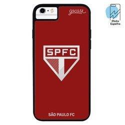 Capinha para celular Mirror - São Paulo - Escudo Espelhado Vermelho
