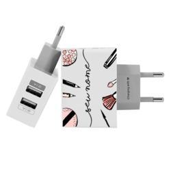 Carregador Personalizado iPhone/Android Duplo USB de Parede Gocase - Tesouro de Make by Niina Secrets