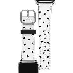 Apple Watch Band - Black Hearts