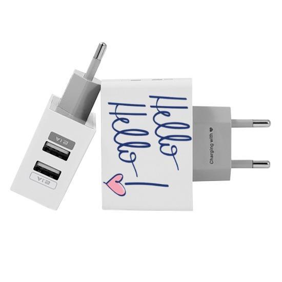 Carregador Personalizado iPhone/Android Duplo USB de Parede Gocase - Hello Hello by Nah Cardoso