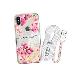 Kit Rose Gold handwritten (case + Apple cable)
