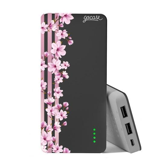 Carregador Portátil Power Bank (10000mAh) - Floral Lines