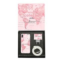 Kit Collection - Mapa Mundi Rosa - Cabo Lightning
