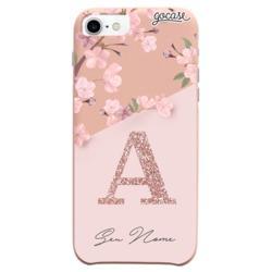 Capinha para celular Fascino - Classical Rosé Inicial Glitter