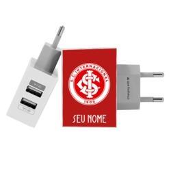 Carregador Personalizado iPhone/Android Duplo USB de Parede Gocase - Internacional - Escudo Customizado