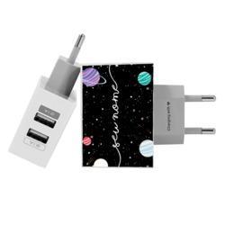 Carregador Personalizado iPhone/Android Duplo USB de Parede Gocase - Constelação By Mari Nolasco