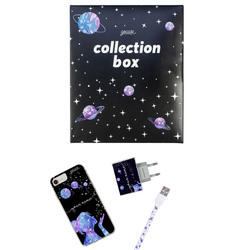 Kit Stardust handwritten (case + Apple cable + wallcharger + Space Travel Limited collection box)
