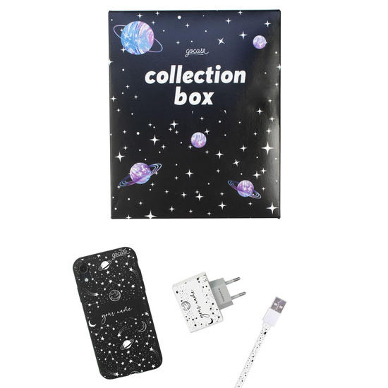 Kit Draw Universe Handwritten (black case + Apple cable + wallcharger + Space Travel Limited collection box)