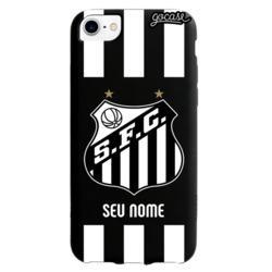 Capinha para celular Black Case - Santos - Escudo - Customizável