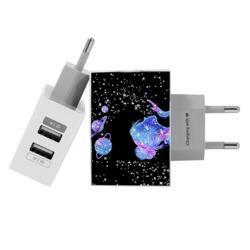 Carregador Personalizado iPhone/Android Duplo USB de Parede Gocase - Poeira das Estrelas