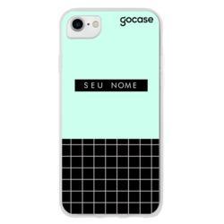 Capinha para celular Fashion Grid Turquesa