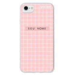 Capinha para celular Grid Style Sweet Pink