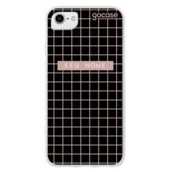 Capinha para celular Grid Style Black Pink