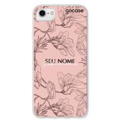 Capinha para celular Traços Rosé Personalizado