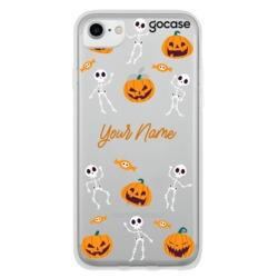 Skeletons and Pumpkins Customizable Phone Case