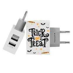 Customized Dual Usb Wall Charger for iPhone and Android - Trick or Treat