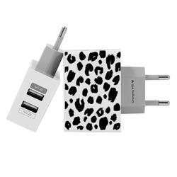 Customized Dual Usb Wall Charger for iPhone and Android - Stains