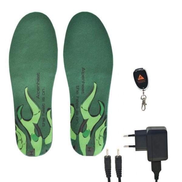 Alpenheat Schuhheizung Wireless HotSole - Farbe grün. Größe S/M (35-40). 1