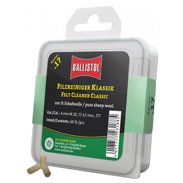 Ballistol Filzreiniger Klassik - Kaliber 7,5 mm / 7,62 mm / .30-06 / .300 / .308. Dose à 60 Stück. 2