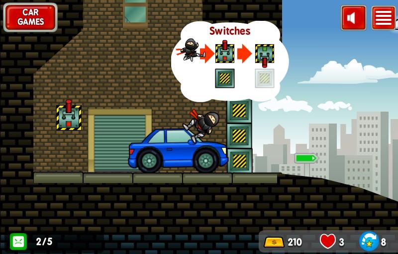 Sticky Ninja Mission Game Snapshot.