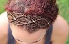 Handmade hairband of macrum thread