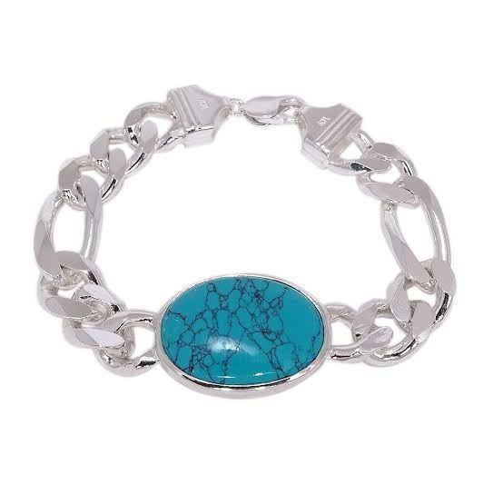 Firoza stone Silver bracelet Irani turquoise Silver bracelet salman khan bracelet