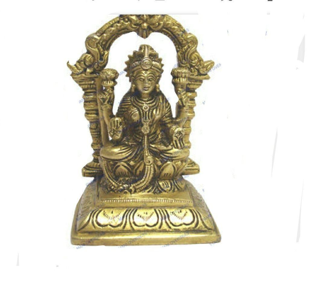 Laxmi idol brass laxmi statue in ring design 5.5 inches