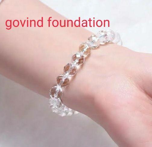 Sphatik bracelet Diamond cut natural Sphatik bracelet