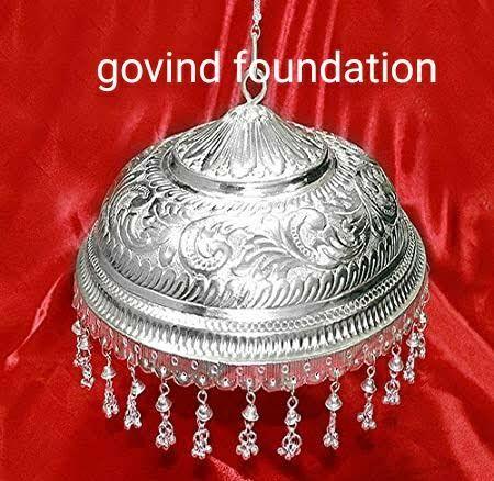 Silver chhattar chandi ka chhatra 5 inches