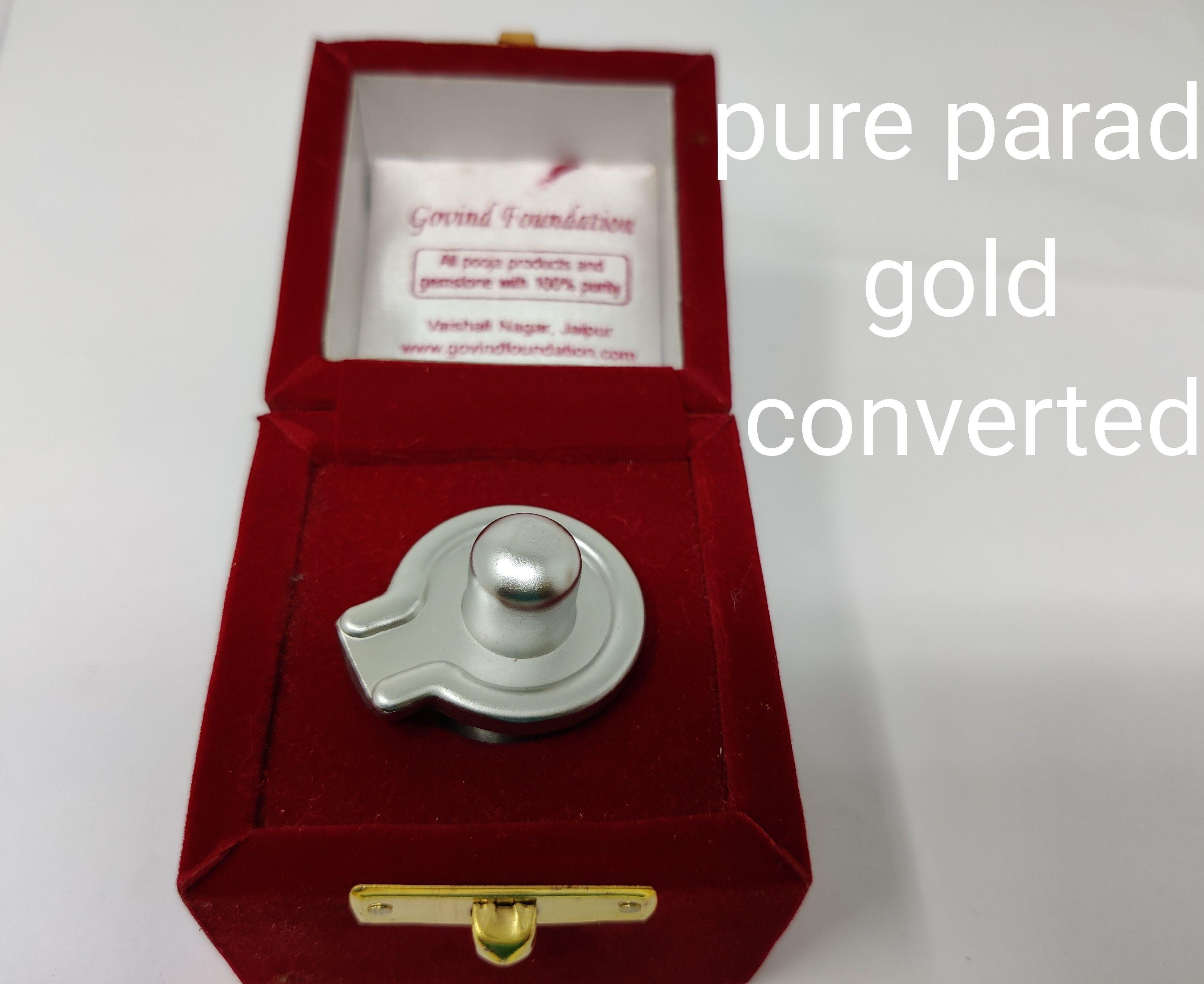 Pure parad shivling gold converted mercury shivling 90 gm