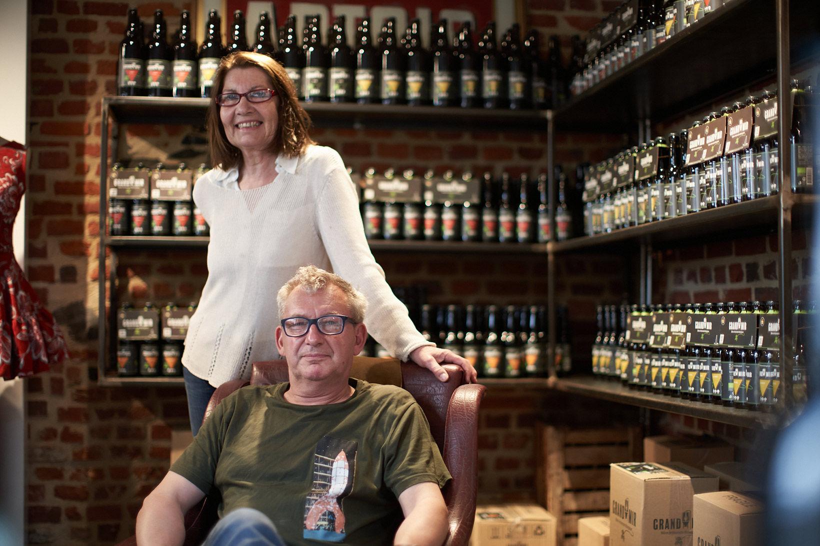 Philippe et Pascale de la Brasserie du Grand Mir