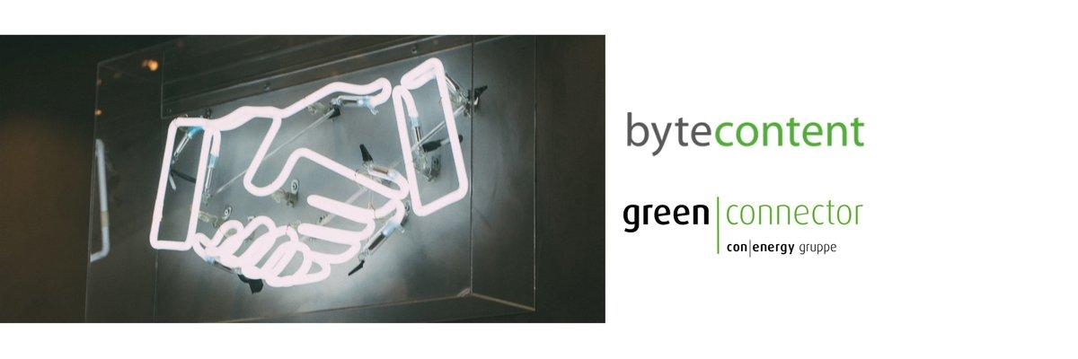 Partnerschaft bytecontent und green|connector mit gemeinsamen Lösungsangebot