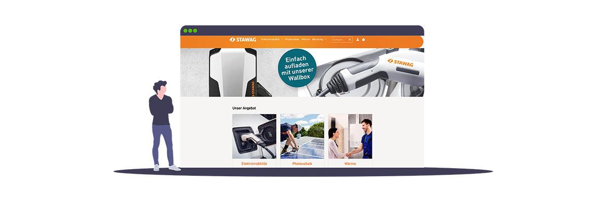 STAWAG, green|connector und The Mobility House starten erfolgreich Online-Shop für Energiedienstleistungen