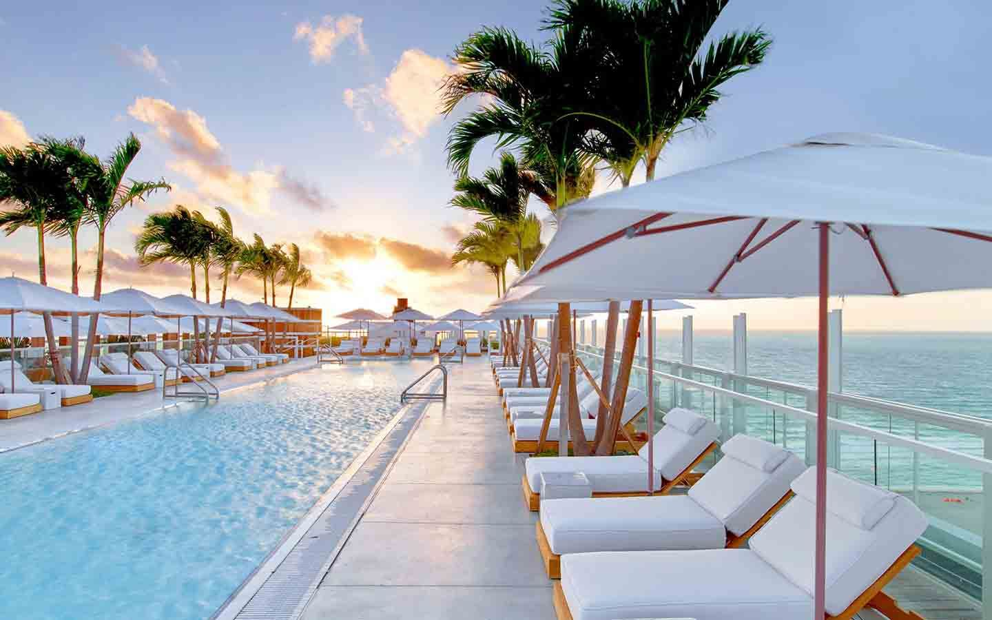 1 Hotel's Beautiful Sunrise Beach View and Pool