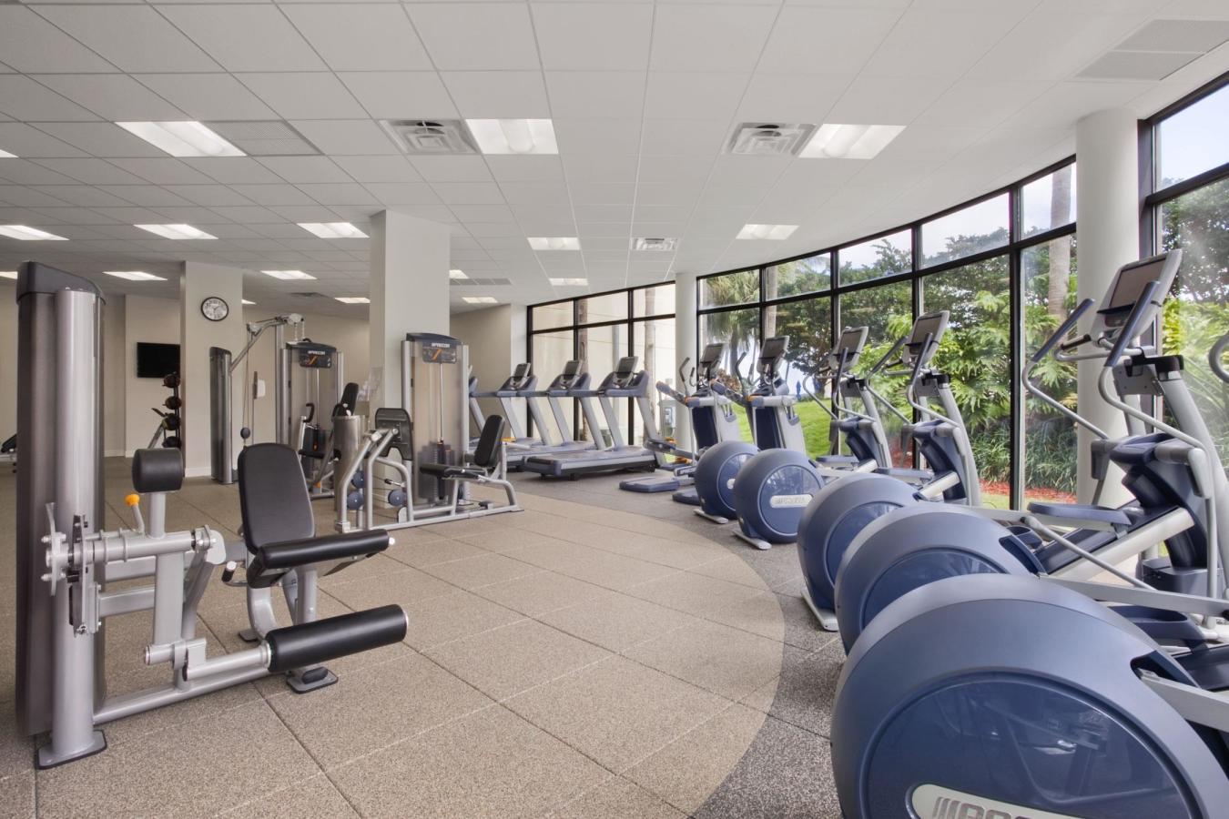 Fitness Center at the Hilton Miami Airport Blue Lagoon
