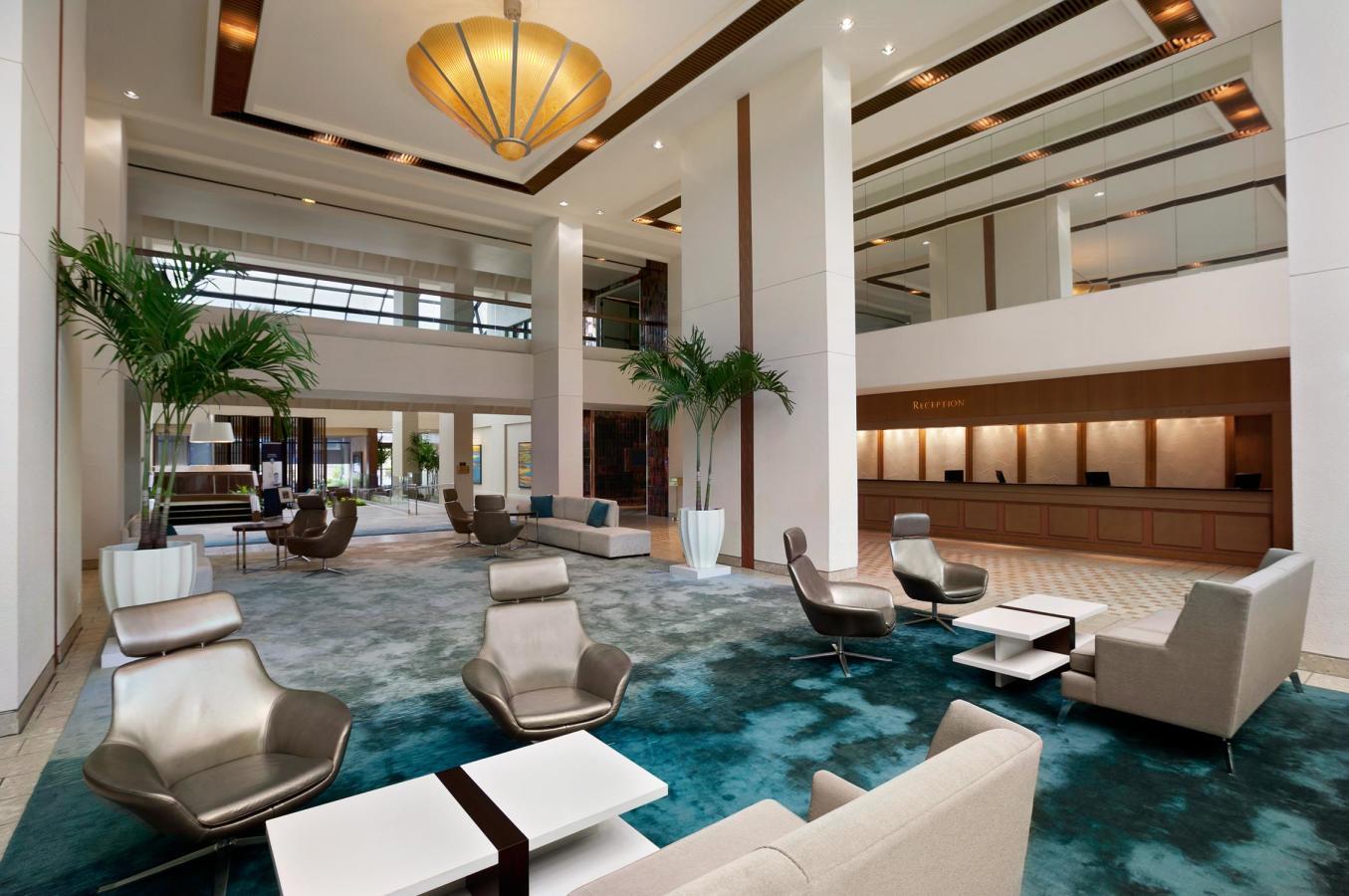 The Hilton Miami Airport Blue Lagoon Lobby